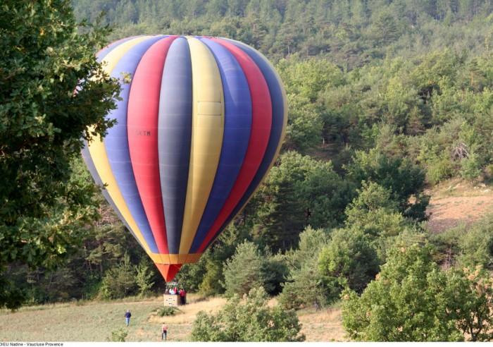 vol stationnaire en montgolfière